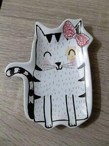 BEST FRIENDS CERAMIC TRINKET DISH SOAP DISH CAT NEW
