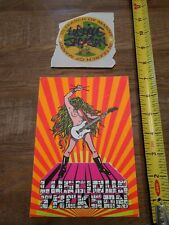 Luscious Jackson promo sticker and postcard 93 In Search of Manny