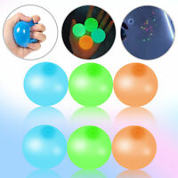 8pcs Sticky Balls Glow Squishy for Stress Ceiling Relief Globbles Kid Toy Gift