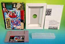Mario's Time Machine - SNES Super Nintendo Game Rare with Box Mario Adventure