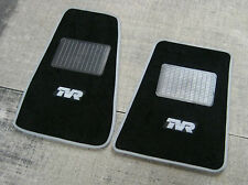 Nero Super Velour Tappetini Auto con Grigio Trim-TVR TUSCAN (1999-2006) + logo TVR