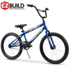"20"" Rock It Boys Bike Royal Blue Gloss Durable Steel Bicycle Frame Coaster Brake"
