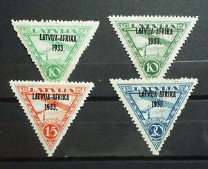Local Latvia 1933 Overprint Latvija Afrika MLH
