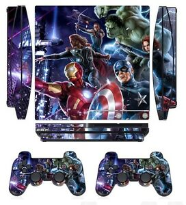 260 Skin Sticker Cover for PS3 PlayStation 3 Slim and 2 controller skins