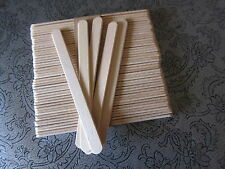 "100 FLAT WOODEN LOLLIPOP CRAFT LOLLY STICKS 4.5"" -Food or craft use"