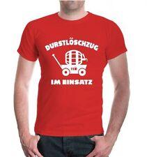Herren Unisex Kurzarm T-Shirt Durstlöschzug im Einsatz Vatertag Männertag Bier