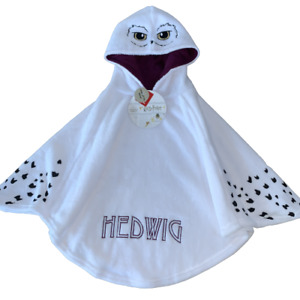 Girls Harry Potter Hedwig Poncho Dressing Gown Cape Loungewear Age 4 - 12 Years
