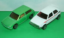 Two 1/64 Scale Volkswagen Diecast Hot Wheels Cars - VW Brasilia and Golf Mk2