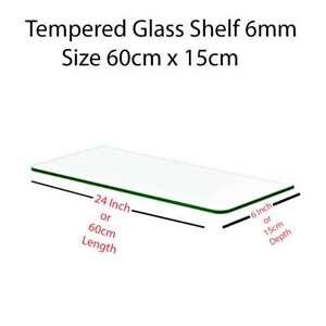 6mm Clear Tempered Glass Shelf Panel Toughened Glass , Glass Bracket , UPRIGHT