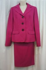 "Evan Picone Skirt Suit Sz 8  Deep Rose Pink ""Park Avenue"" Career Business Suit"
