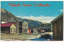 GHOST TOWN Rockies Deserted Mining Town COLORADO Vintage Postcard CO