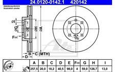 ATE Juego de 2 discos freno Antes 257mm ventilado para FIAT DOBLO 24.0120-0142.1