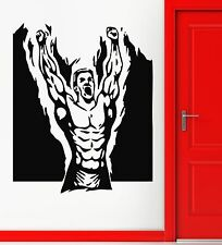 Wall Stickers Vinyl Decal Muscled Sport Bodybuilding Cool Decor for Gym (ig1064)