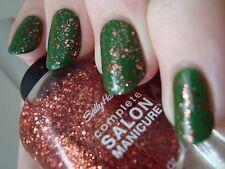NEW! Sally Hansen Complete Salon Manicure nail polish COPPER PENNY 100 ~ Glitter