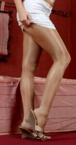 Q XL Peavey Skintone shiny Gloss Tights hooters uniform 40 denier 13% Lycra