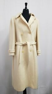 Ladies Vtg Windsmoor Wool Trench Coat Size 12 EU40 Dry Cleaned