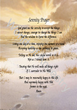 Serenity Prayer on Footprints Background