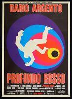 Manifesto Rojo Profundo Dario Argento David Hemmings Daria Nicolodi Cine P15