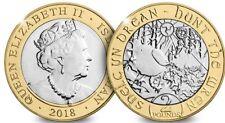 £2 Coin -STUNNING CHRISTMAS GIFT -2018 ISLE OF MAN 'HUNT THE WREN'  -CERT.BUNC-