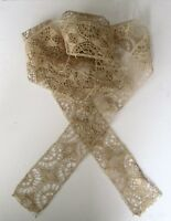 2.6 Yards of French Antique Ecru Cotton  Lace From France