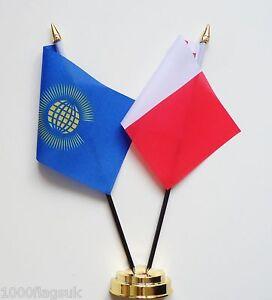 Commonwealth & Malta Double Friendship Table Flag Set