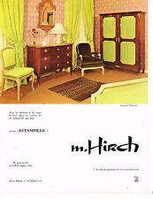 PUBLICITE ADVERTISING 094  1966  HIRCH   meubles & sièges