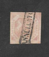 1858 NAPOLI 2 GRANA ROSA TAVOLA ?  USATO