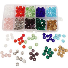 300pcs Mixed Colors 8mm Crystal Glass Rondelle Faceted Loose Spacer Beads