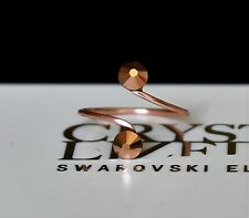 Rose Gold Plated Toe/Knuckle Ring with Rose Gold Swarovski Crystals Elements