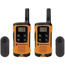 MOTOROLA TLKR T41 PMR446 LICENCE FREE WALKIE-TALKIE TWO WAY RADIO x 2 ORANGE