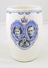 Wedgwood- King George VI & Elizabeth Coronation Beaker - Made in England