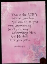 Frameable - Trust In The Lord - Psalm 3:5-6 - Religious - Greeting Card New