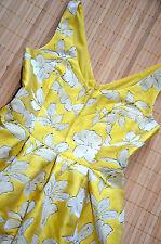 HALLHUBER wunderschönes Kleid Gr. 42 / UK 14 neu Rücken Ausschnitt Sonnengelb