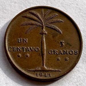 DOMINICAN REPUBLIC 1  CENTAVO 1941