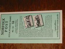 Norfolk Island :- Booklet MNH  SB9 Settlement houses cover dull green (63)