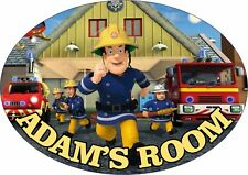 Fireman Sam Personalised Door Plaque