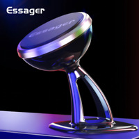 ESSAGER Premium Mobile Phone Magnetic Car Phone Holder. NEW round version