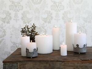 Macon White Pillar Candle, Paraffin Wax Rustic Lighting, 8 Sizes
