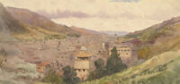 Early 20th Century Watercolour - Between the Mountains