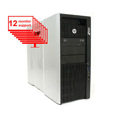 HP Z820 Multi 12-Monitor Computer/ Desktop PC 12-Core/24GB / 1TB/ NVS 450/ Win10