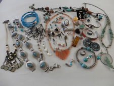 Large 1+lb southwestern native american 925 sterling silver mixed jewelry lot