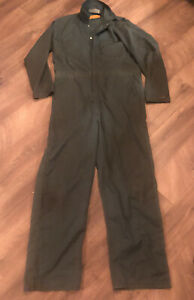 Vintage Durable Press Green Coverall size 44LN