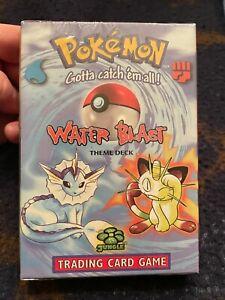 Pokemon 1999 WOTC Water Blast Theme Deck (Slight DMG/SEALED)