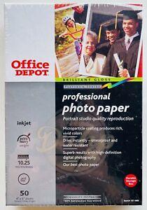 Professional Photo Paper 4x6 (50 Sheets) Office Depot BNIB