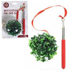 Christmas Jingle Mistletoe on-The-Go on Extendable Stick Novelty Party Item