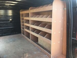 Vauxhall Vivaro LWB L2 Plywood Van Shelving Racking System Tool Storage Unit Div