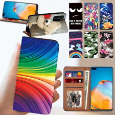 Leather Flip Wallet Book Cover Fit Huawei P20 / P30 /P30 Lite / P40 Phone Case