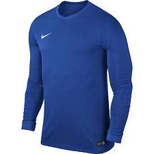Nike Mens Park VI Long Sleeve Jersey Dri Fit Football Shirts Kits Top Sports Blue L