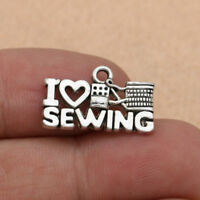 10pcs DIY Silver Sewing Knitting Charms for Bracelet Accessories Craft