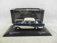 Scarce Minichamps 430 043208 1958 Opel Rekord P1 White/Blue Limited edition